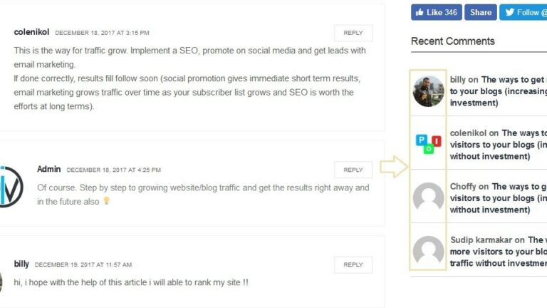 Recent comments with the author's avatar and remove comment author's link in WordPress