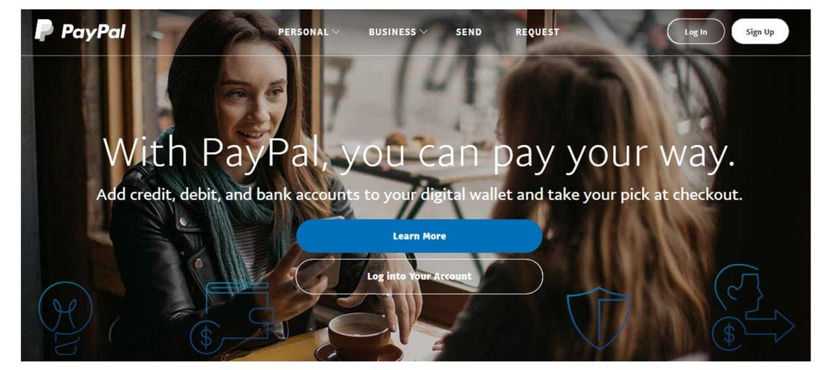 Create and setup a PayPal account to send and receive