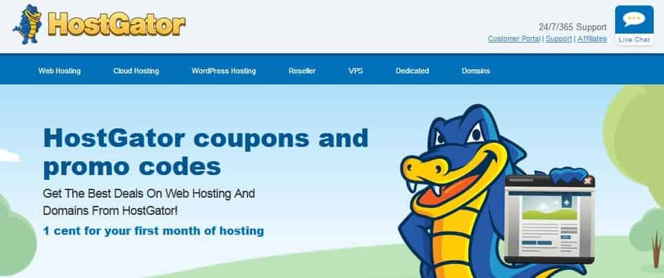 Latest Hostgator promo codes and coupons, 1 cent for your first month of hosting - ohiwill