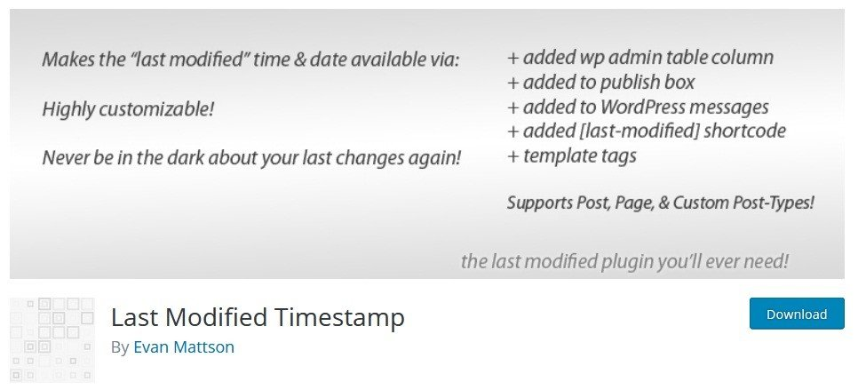 How to display the Last Updated time of your posts in WordPress