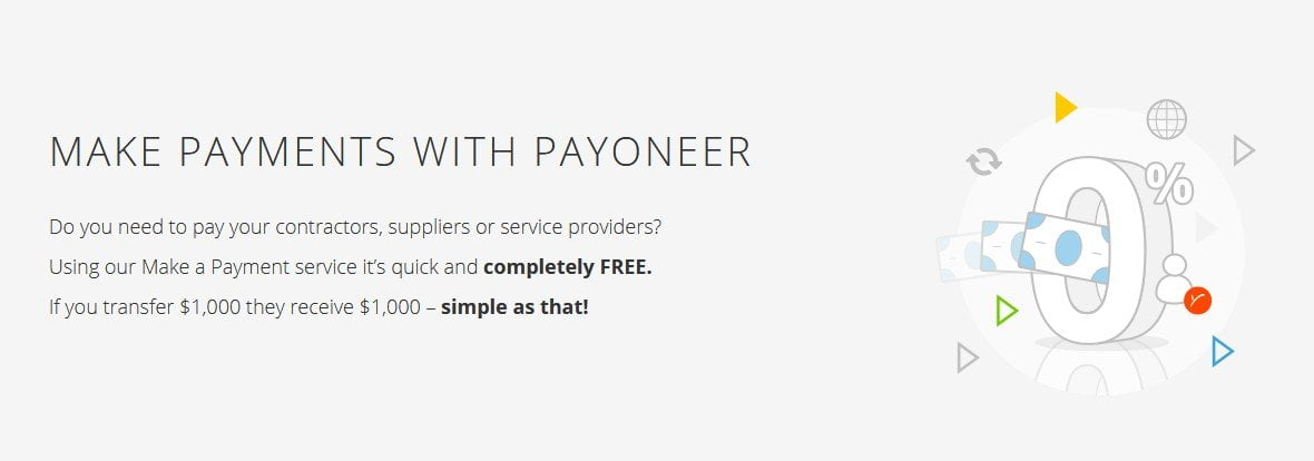 Make payment with Payoneer - OIW