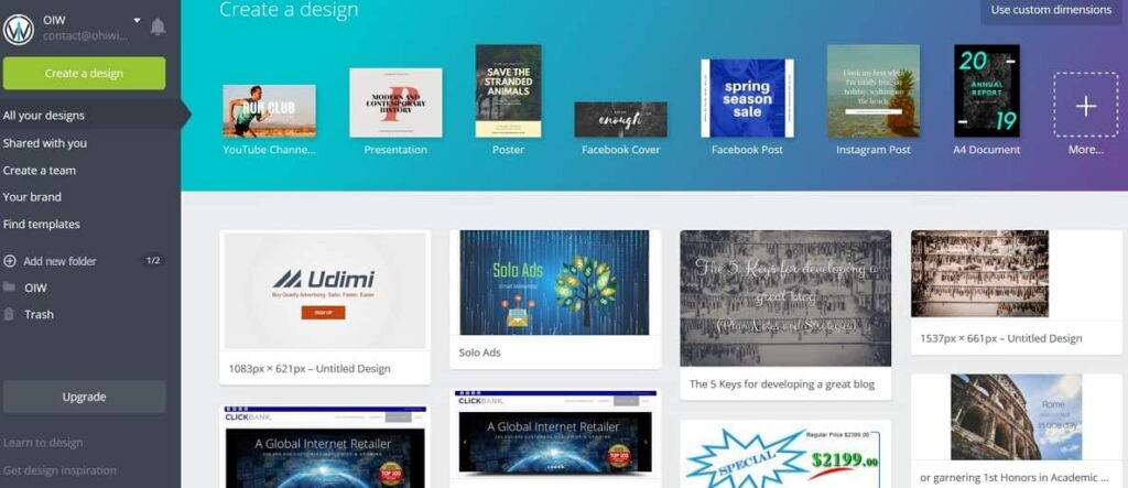 Build your design with Canva