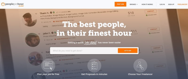 PeoplePerHour website MMO - ohiwill