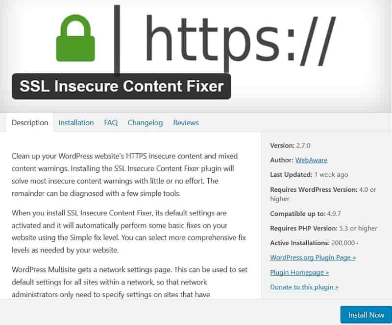 SSL Insecure Content Fixer Plugin
