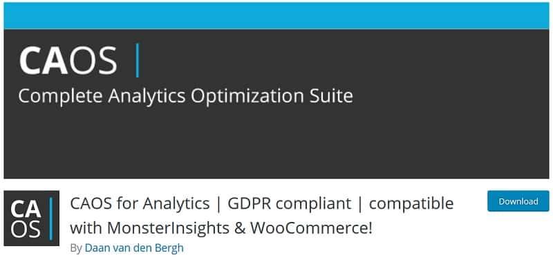 Complete Analytics Optimization Suite (CAOS) plugin