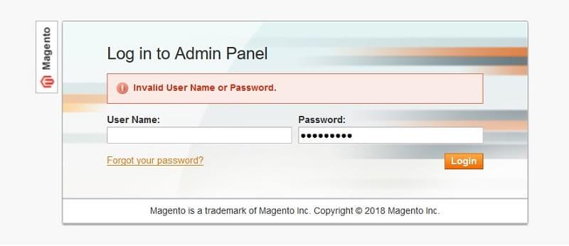 Forgot your password Magento Admin Panel