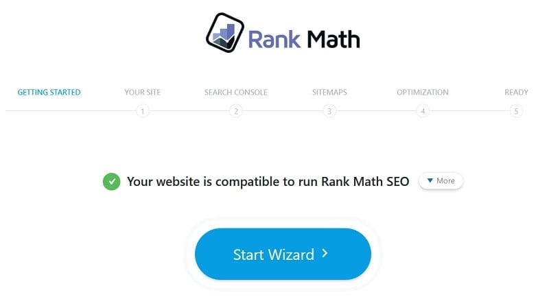 Rank Math Wizard Setup
