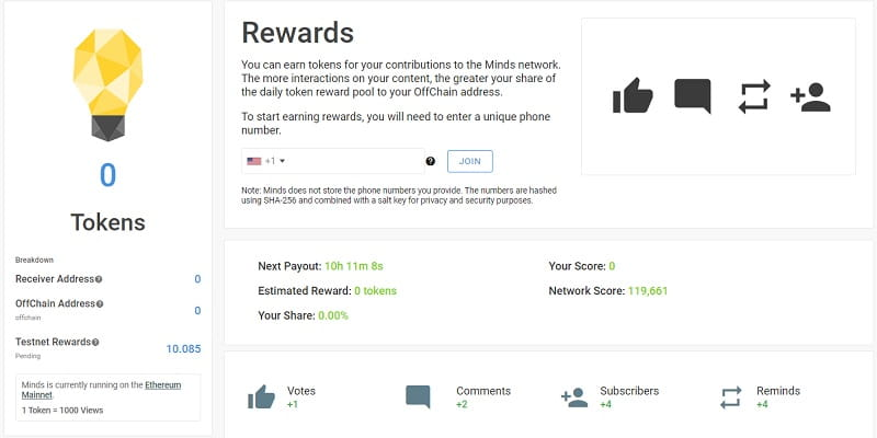 Rewards with phone number is needed