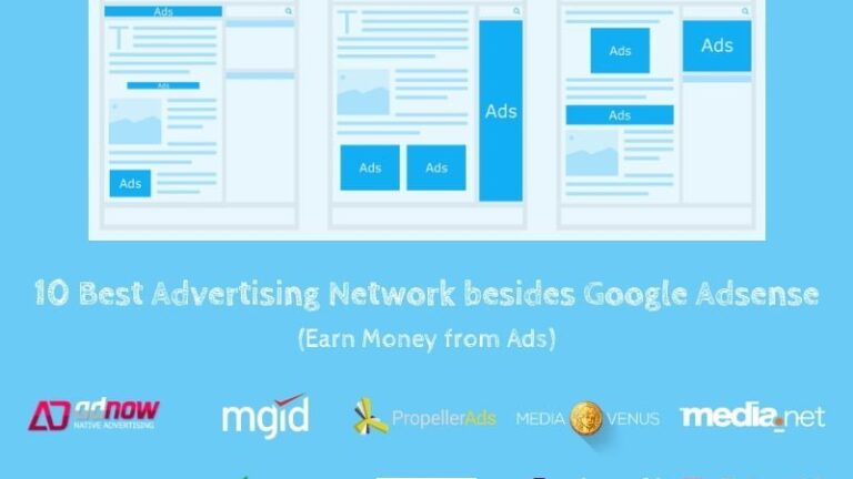 Top 10 Best Advertising Network besides Google Adsense (Earn Money from Ads)