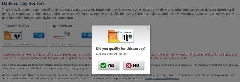 Take Online Daily Survey on ClixSense