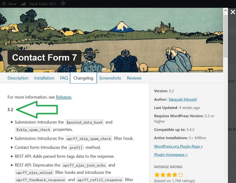 Contact Form version 5.2